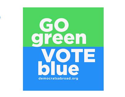 Go Green. Vote Blue.