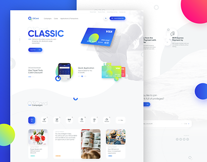 Landing Page - Credit Card / Campaigns