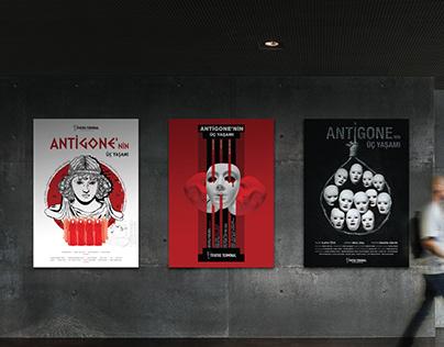 Antigone'nin üç yaşamı // Theatre Poster Design.