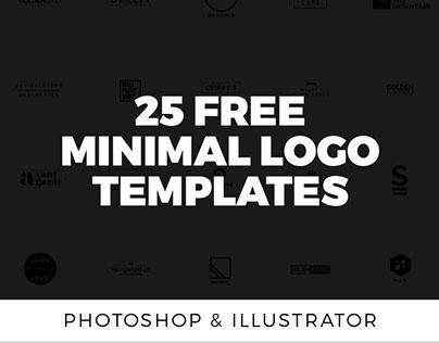 25个免费最小标志模板| AI和PSD