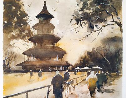Chinese Tower -Munchen