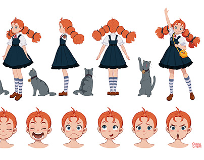 Spiraling Witch Encyclopedia_ sheet _Annie