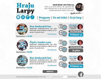 Hraju Larpy – web & visual style