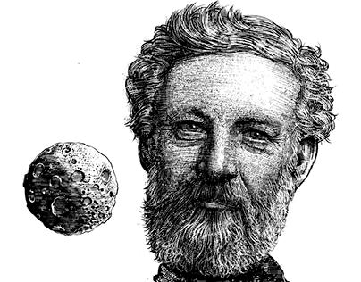 De la Tierra a la luna (1865). Julio Verne.