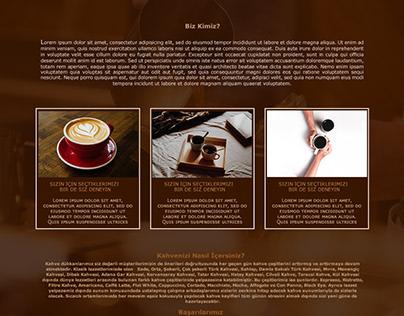 Çiçek Coffe Shop UI Tasarım