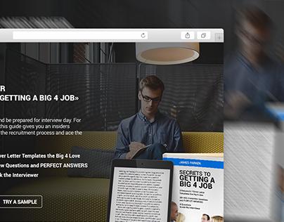 eBook Landing Page Design