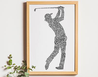 Typography-Golf-Player-free