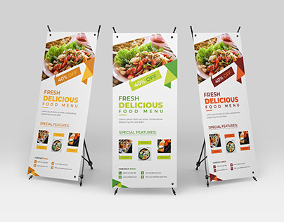 Professional Restaurant and Food Rollup Banner Template