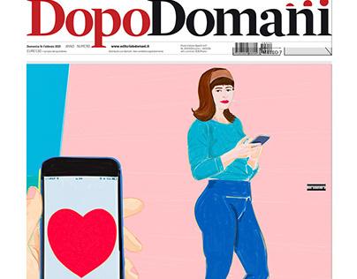 Hi Amore! Cover for DOMANI Saint Valentine 2021 Issue