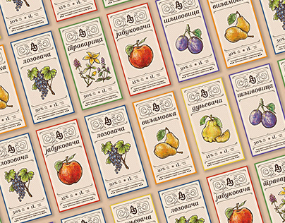 Fruit Brandy Labels