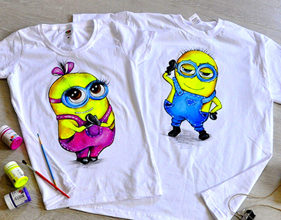 Mignons, T-shirts, hand-painted