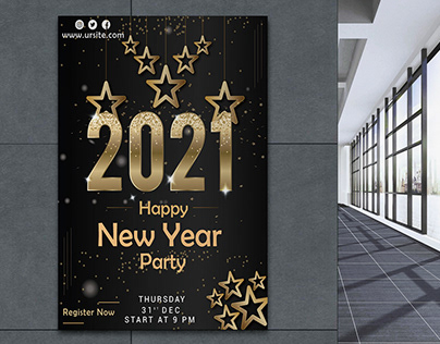 New year Party Poster 2021