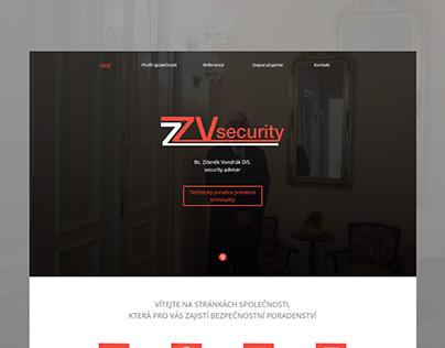 Rekonstrukce webových stránek ZVsecurity