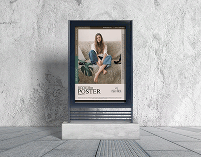 Advertising Stand Billboard Poster Mockup Free