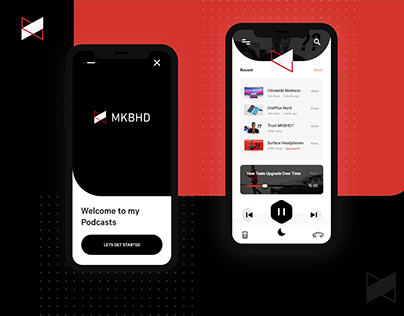 Podcast app for MKBHD Via YouTube