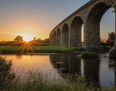 Arthington Viaduct at sunrise