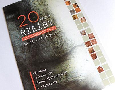 Katalog na wystawę rzeźby dla TPG