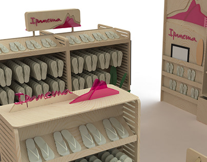 sandal display for Ipanema (Grendene)
