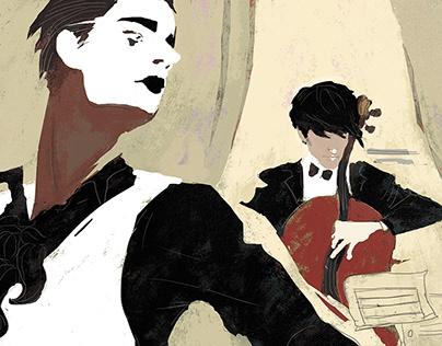 Mime&Cello performance