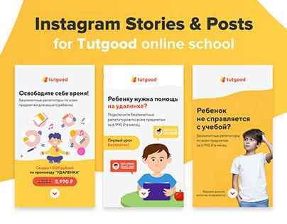 Insagram Stories & Posts for Tutgood online school