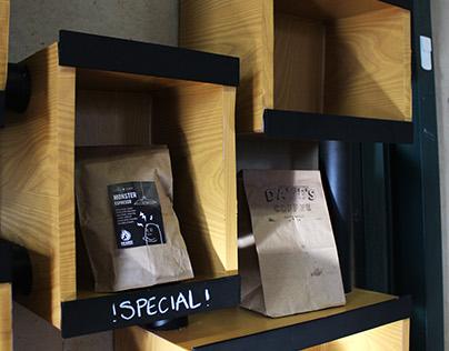 Coffee Shop Shelving Unit