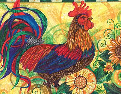 wall calendar cock
