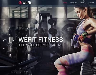 WeFit | Health & Fitness PSD Template