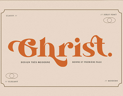 FREE | Ghrist A Classic Serif Font