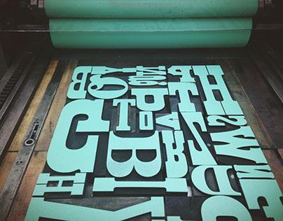 Letterpress Poster Series