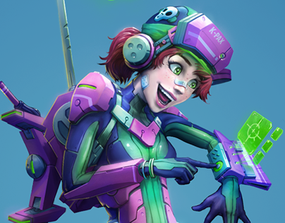 Character Design: SciFi Scout (2018)
