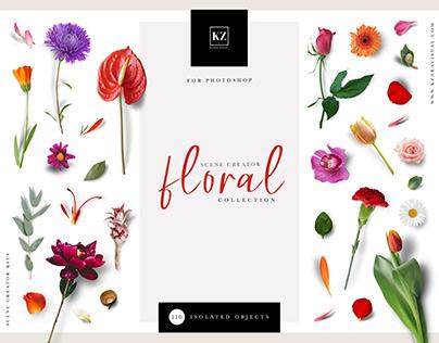 Floral Scene Creator, Custom Scene Mockup