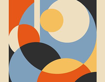 Art concept in Bauhaus style