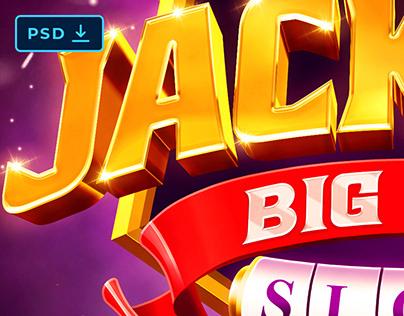 Jackpot Casino Game Text Effect [PSD]