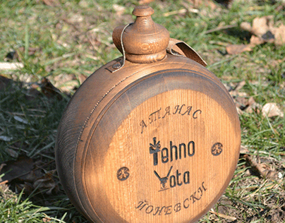 Wooden flask for sheet metal manufacture boss