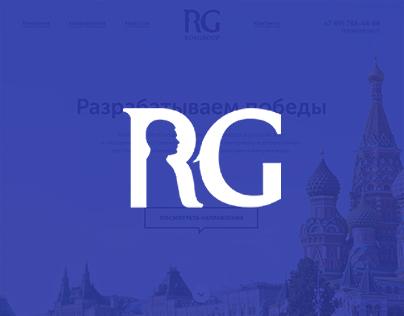 RosGroup. Landing page fullscreen design.