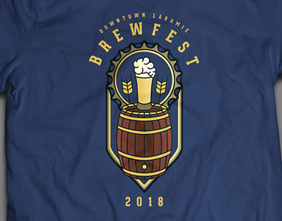 Downtown Laramie BrewFest Official T-Shirt Design