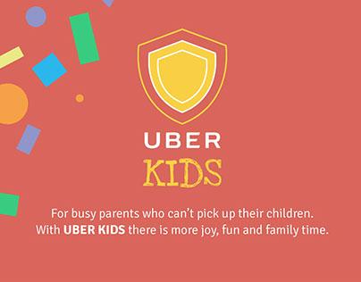 Uber Kids - Visual identity for web