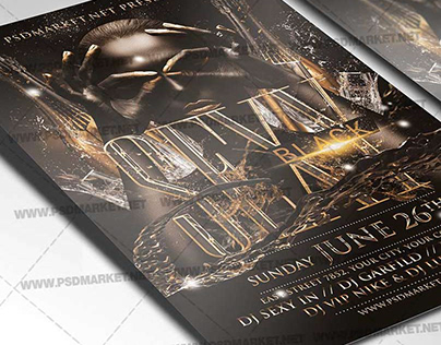 Sexy Black Party Flyer - PSD Template