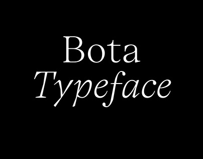 Bota Typeface