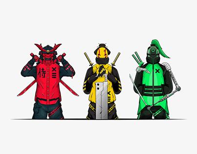 Urban Samurai Illustrations | Cyber Punk