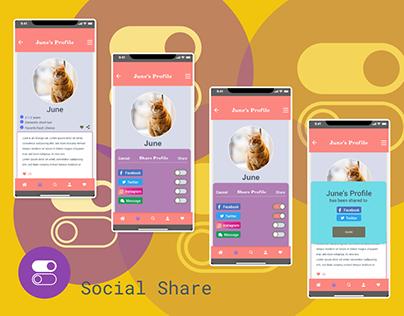 Adobe XDDailychallenge Day 4 - Social Share