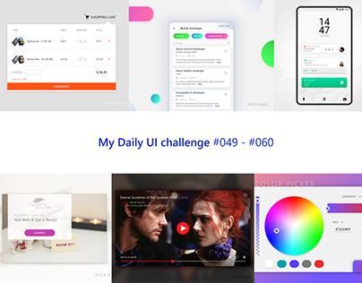 My Daily UI challenge #049-#060