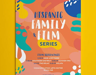 Hispanic Family and Film Poster Series