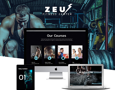 Zeus Fitness Center Web Site