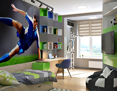 room for a young football player. Apartment in Kiev