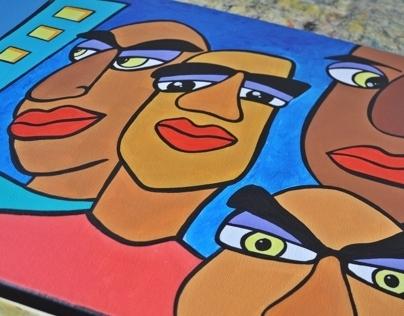 'City Boys 2' - Original Acrylic Painting on Canvas