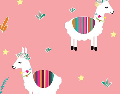 Alpaca- corn Pattern Design