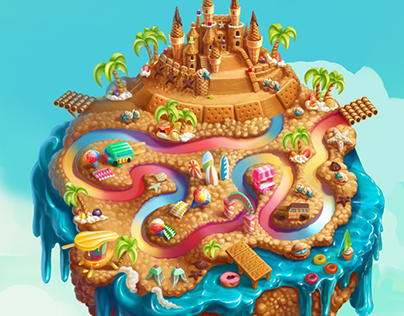 Test Surf Beach for Сookie Jam by SGN