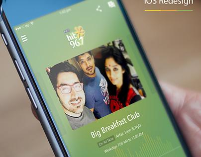 Hit 96.7 FM iOS App Redesign Concept