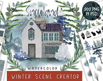 Snowland. Winter Scene Creator